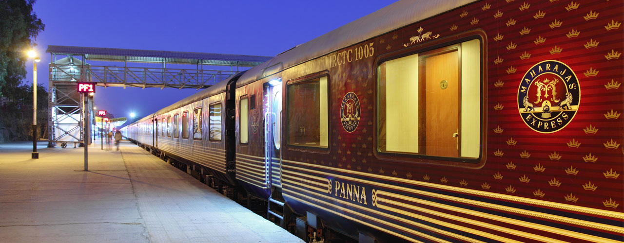 Maharaja's Express ready to leave station