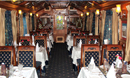 Royal restaurant coaches well furnished of lighting and curtains